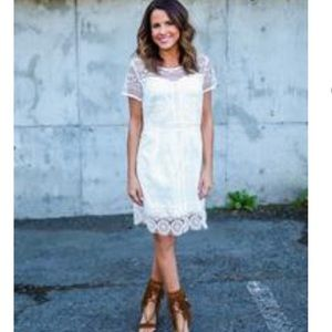 NWOT White Lace Dress by Skies are Blue and Vici
